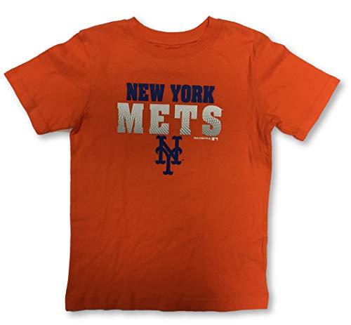 Outerstuff New York Mets Jungen-T-Shirt, Rundhalsausschnitt, Größe L, Orange