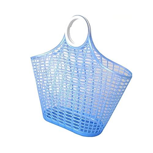 YANLI2233 Picnic Basket Cesta de Compras de la Cocina de la Cocina de la Mano de la Mano del plástico Grande cesto Mimbre