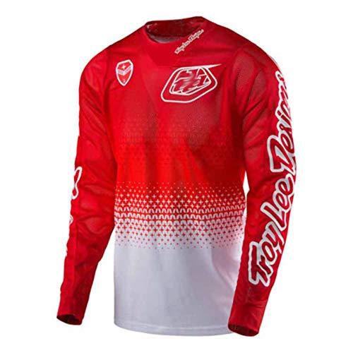GLZTY Jersey de Motocicleta Bicicleta de montaña Mountain Bike Motocross Jersey Larga Ropa de Ciclismo MTB al Aire Libre Ropa Deportiva de Entrenamiento Deportivo