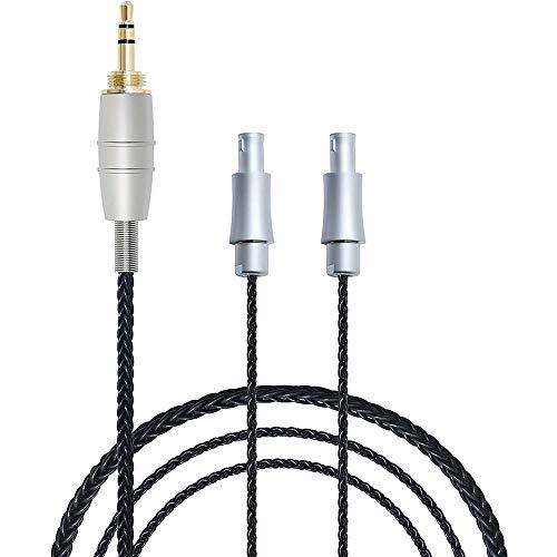 Micity Soft and Bright 7N OCC plateado Cable de repuesto para auriculares Sennheiser HD800 HD800S (negro)