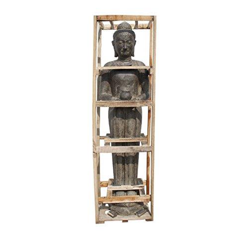 Oriental Galerie Buddha Statue Figur Skulptur Stehend Lebensgroß 190cm Asien Steinfigur Indonesien Deko Steinguss Lavastein