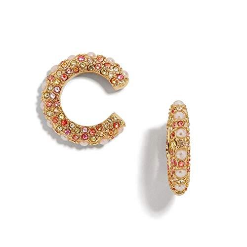 Polsini grandi 18K per donna, polsini scintillanti con perle per orecchie non forate Set di gioielli perfetti Regali per donna Uomo (colore)