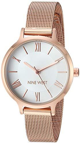 Reloj Nine West para Mujer 31mm, pulsera de Acero Inoxidable
