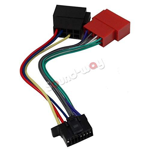 Adapterkabel ISO für Autoradio Takara, 16Pin Anschluss