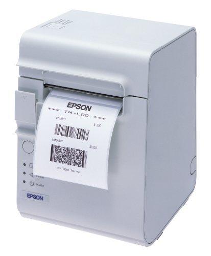 Epson TM-L90 Thermodirekt Etikettendrucker - inkl. Autocutter -  USB Schnittstelle - weiß