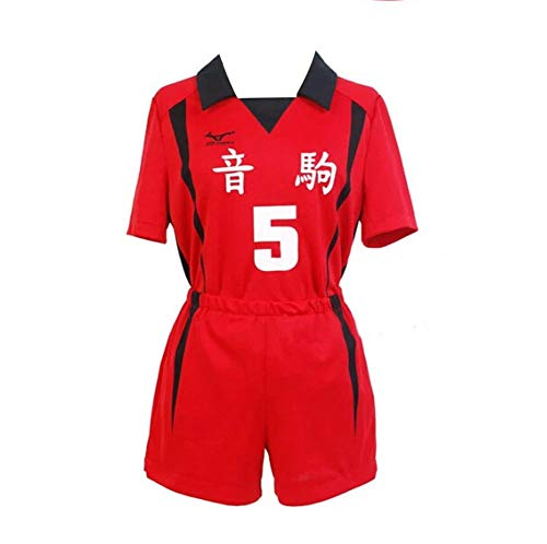 Chloe Ferguson Haikyuu Nekoma Anime Uniforme de la Escuela Secundaria Equipo de Voleibol Jersey Kuroo Tetsurou/Kozume Kenma Horn Traje de Cosplay Ropa Deportiva