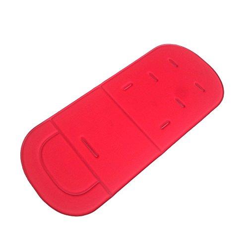 Cojín universal para cochecito de bebé con forro de espuma viscoelástica, color rojo