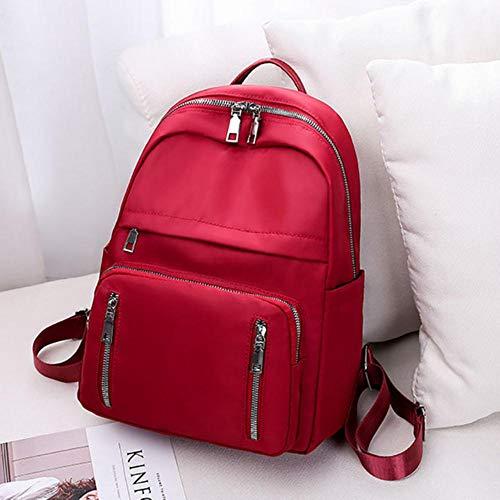 NVT Backpacks Women Casual Rucksack School Shoulder Bag Backpack for Teenage Girls Student Back pack Lady,Wine Red,34cmx25cmx13cm