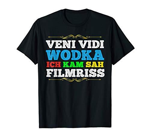 Veni Vidi Wodka Filmriss Shirt   Lustiger Trinkspruch Vodka