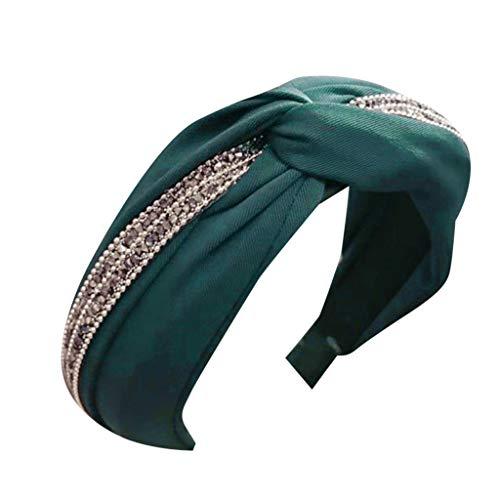 Yvelands Damen Mode Stirnbänder Breit Haarbänder Bogen Knoten Haarband Frauen Haar Kopfband Einfache Süße Mädchen Haar Stirnband Haarschmuck (1PC, A)