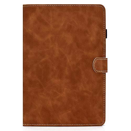 zl one - Carcasa de piel sintética para tablet Huawei MediaPad T5 de 10' (marrón)