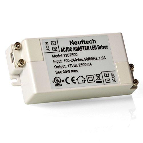Neuftech® 12V 2.5A 30W LED Transformador de Conductor/Driver Fuente de Alimentación para luz iluminación Bombilla Tiras LED
