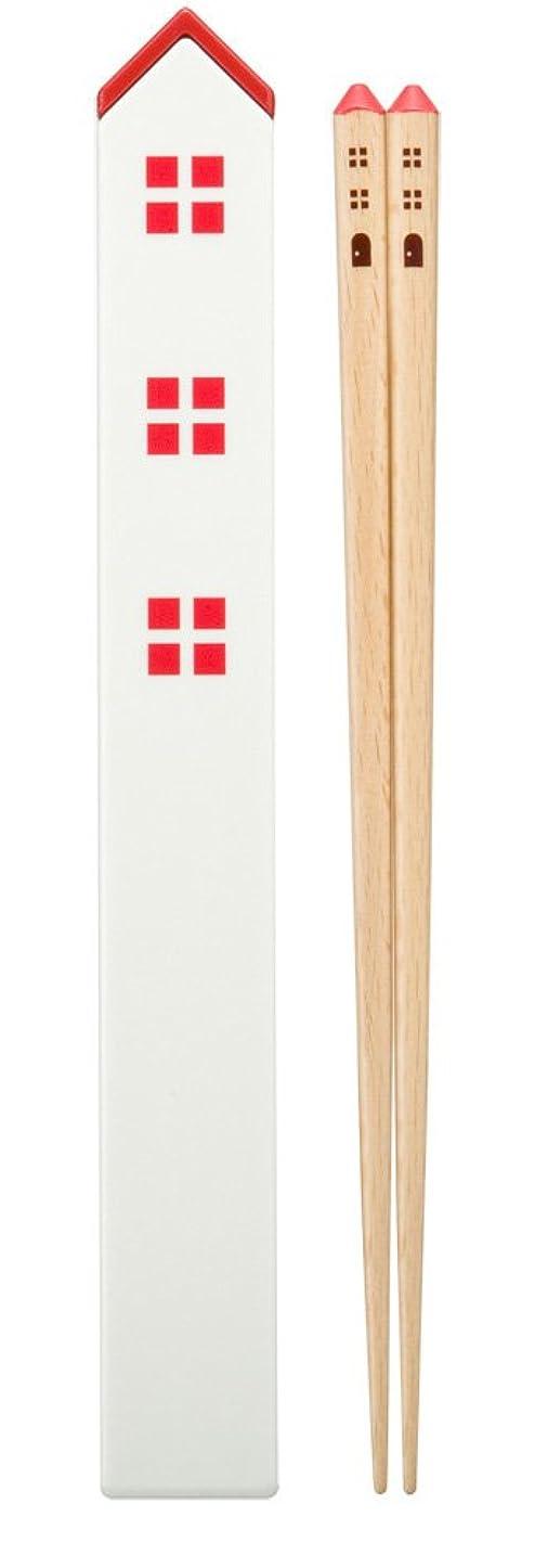 ツーリスト診断する終わらせるナカノ 箸 はし箱 セット レッド 塗り箸 21cm カントリー ZAB-358R