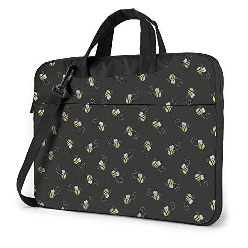 15.6″Lightweight Laptop Notebook Shoulder Backpack Bag Lovely Bees Waterproof PC Briefcase Messenger with Strap