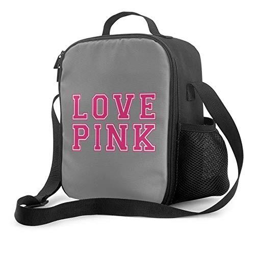 Lawenp Copdsa V 's Secret Love - Bolsa de almuerzo con aislamiento rosa, bolsa de almuerzo plana a prueba de fugas con correa para el hombro para hombres y mujeres, adecuada para el trabajo y la ofic