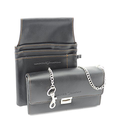 Marco Amrini Kellnerbörse, Kellnertasche mit Tasche, Kellner Geldbörse, Taxibörse mit Holster und Kette