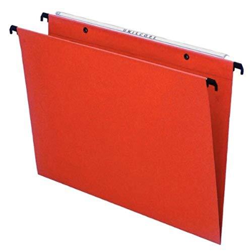 ESSELTE 10202 Orgarex Kori Set di 25 cartelle verticali sospese con fondo a V A4, linguette incluse, arancione, 34.5 x 24.5 cm