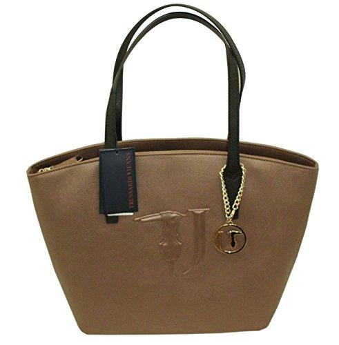 Borsa TRUSSARDI JEANS B560 handbag SHOPPING ischia BRONZO
