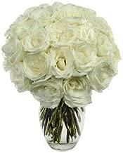 Flowers - Two Dozen White Roses (Free Vase Included)