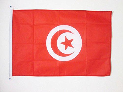AZ FLAG Flagge TUNESIEN 90x60cm - TUNESISCHE Fahne 60 x 90 cm Aussenverwendung - flaggen Top Qualität
