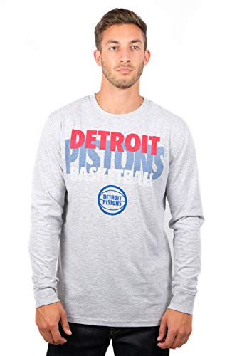 UNK NBA Herren T-Shirt Supreme Long Sleeve Pullover Tee Shirt Grau, Herren, T-Shirt Supreme Long Sleeve Pullover Tee Shirt, Gray, grau, XX-Large