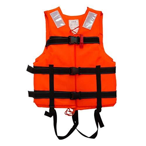 PEPENE Chaleco Salvavidas Chaleco Ejecutiva de Ventas Unisex Chaleco de Vida Natación Esquí de Salvamento de Chaqueta para Niños para Agua Bote Un Motor Pesca. con Naranja