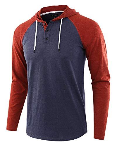 JX-PEP Camiseta de Manga Larga para Hombre con Capucha con Capucha con Capucha con Capucha con Capucha Camisetas Ligeras,F,L