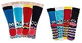 TippTexx 24 6 Paar Kinder Thermo Stoppersocken, ABS Socken für Mädchen & Jungen, Ökotex Standard, Strümpfe mit Noppensohle, viele Muster (Freche Bande, 35-38)