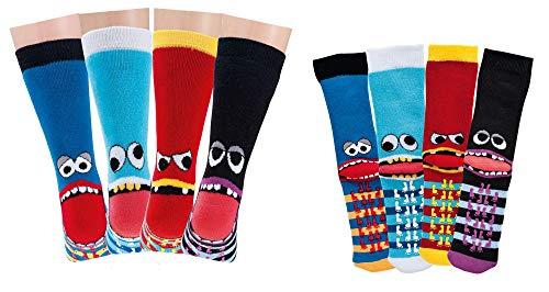 TippTexx 24 6 Paar Kinder Thermo Stoppersocken, ABS Socken für Mädchen und Jungen, Ökotex Standard, Strümpfe mit Noppensohle, viele Muster (Freche Bande, 31-34)