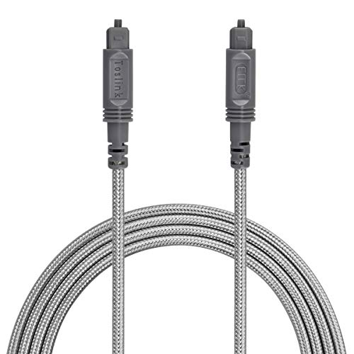 Optical Audio Cable Digital Toslink Cable 6ft - Slim Flexible and Durable Fiber Optic Cord for Home Theater, Sound bar, TV, PS4, Xbox and More
