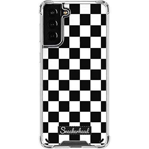 Skinit Clear Phone Case Compatible with Galaxy S21 Plus 5G - Skinit Originally Designed Sneakerhead Checkered Design