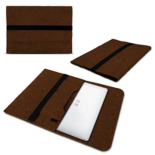 UC-Express Laptop Schutzhülle kompatibel für Trekstor Surftab Theatre 13,3 Sleeve Hülle Tasche aus Filz mit Innentaschen Cover Notebook Hülle, Farbe:Braun