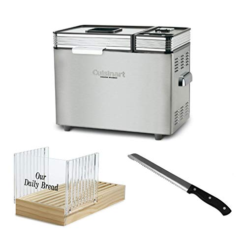 Cuisinart CBK-200 2-Pound Convection Automatic Breadmaker with Bread Slicer and 8-Inch Stainless Steel Bread Knife Bundle (3 Items)