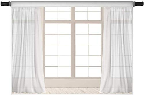NEW 7x5ft White Window Curtain Backdrops for Wedding Party 3D Visual Photo Booth Prop