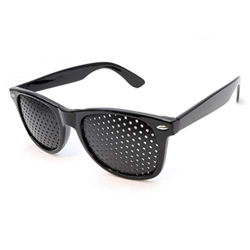 Gafas Reticulares con Agujeros Estenopeicas Anti-miopia Unisex Ejercicio Anti-fatiga Gafas de Sol