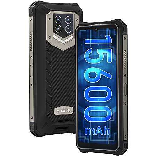 OUKITEL WP15 Móvil Libre Resistente, Batería Grande de 15600 mAh, 5G Dual Sim Rugged Smartphone, 6.52'' Ocho-Núcleos,8GB+128GB Android 11 Telefono Antigolpes, 48MP Triple...