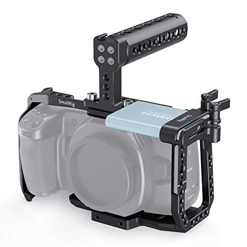 SmallRig Cage Kit for Blackmagic Design BMPCC 4K & 6K Camera, with Camera Cage Top Handle SSD Mount Holder for Samsung SSD T5 - KCVB2748