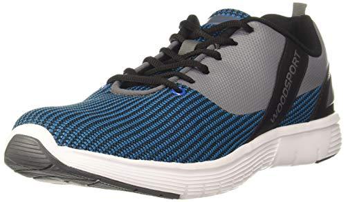 Woodland Men's Running Shoe-11 UK (45 EU) (12 US) (SGC 3277919_Aqua/Grey)