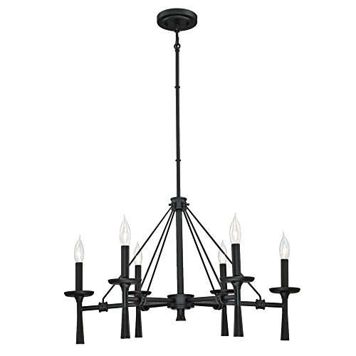 Westinghouse Lighting 6323700 Meadowbrook Six-Light Indoor Chandelier, Matte Black Finish