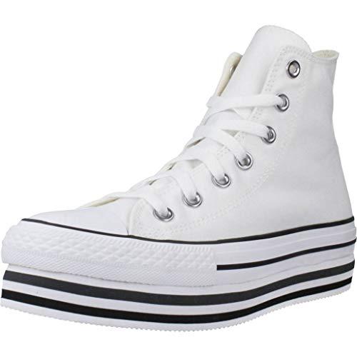 Converse Sneakers Ctas Platform Layer Hi Bianco (35 - Bianco)