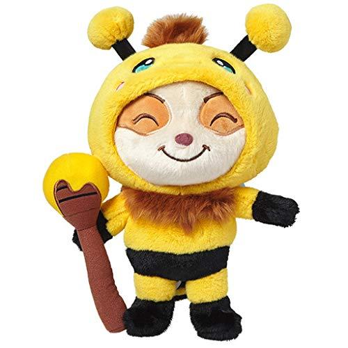 Plush doll Juguetes de Figuras de Peluche, Linda muñeca de Peluche, Papel de Juego para la Liga de Leyendas: pequeña Abeja/Teemo, Regalo de Animal de Peluche para niños (colección)