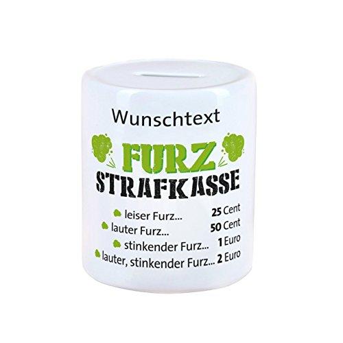 Herz & Heim® Strafkasse für unangenehm riechende Winde - kurz: Furzkasse - mit Wunschtextaufdruck