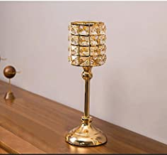 NFSWMHLE Nordic Wrought Iron Crystal Candlestick Retro Romantic Candle Light Dinner Candle Holder Ornaments Table Decorati...