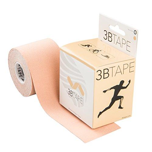 3B Scientific Kinesiology Tape - 5m x 5cm di tape di supporto elastico per muscoli e articolazioni per l'esercizio fisico, lo sport e il recupero delle lesioni - Beige