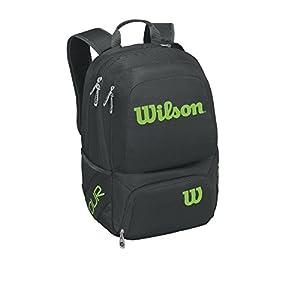 41P60IfG9XL. SS300  - Wilson Tour V Backpack Medium Bkli, Mochila Unisex Adulto, Negro (Black/Lime), 36x24x45 cm