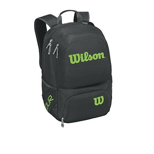 Wilson Tour V Backpack Medium Bkli, Mochila Unisex Adulto, Negro (Black/Lime), 36x24x45 cm