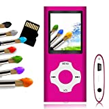 Tomameri - Portable MP3 / MP4 Player with Rhombic Button, Including a 16 GB Micro SD Card and Support Up to 64GB, (watermelonpink)