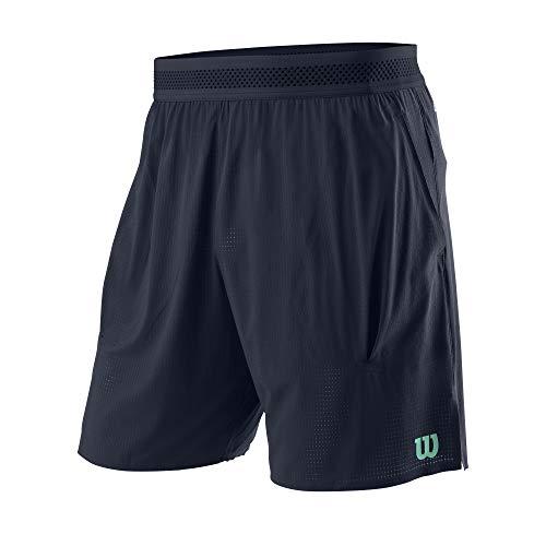 Wilson Hombre Shorts, Kaos Mirage 7 Short, Nailon/Licra, Azul grisáceo (Outer Space), Talla M, WRA789001MD