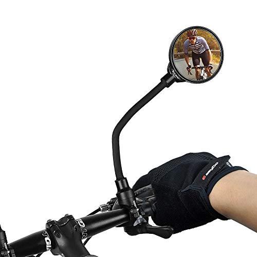 WELLXUNK 360° Rückspiegel Fahrrad,1 Stück fahrad rückspiegel,Rearview Mirror,für Fahrrad/Motorrad/E-Bike/Mountainbikes/Rollstuhl/Kinderwagen Lenkspiegel Set