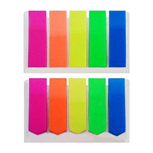 Flag Markers SelfStick Page Markers  600 ct  5 Neon Colors Two Styles